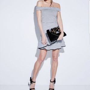 🔮 ENGLISH FACTORY | Striped Ruffle Mini Dress